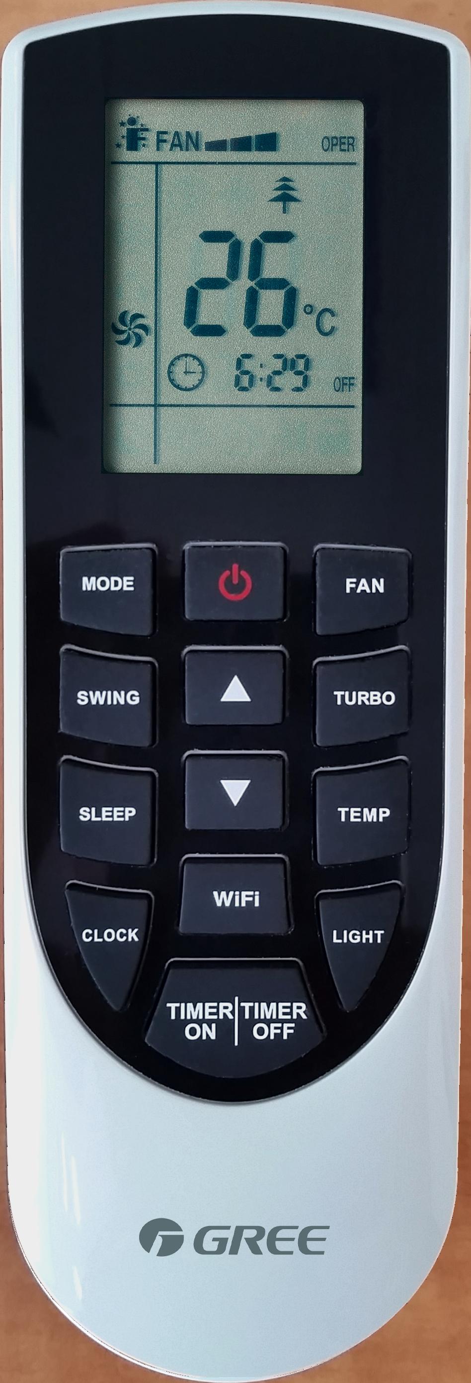 gree_wall-mounted_lomo_remote-controller YAN1F6(WiFi)